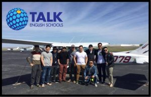 TALK aviation english students