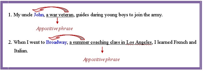 appositive phrase talk english schools blog