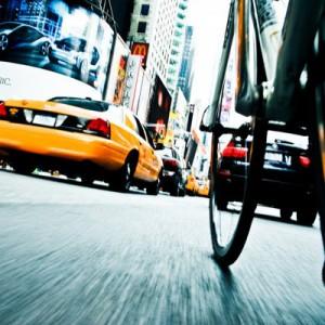 Biker's POV Manhattan Street NYC