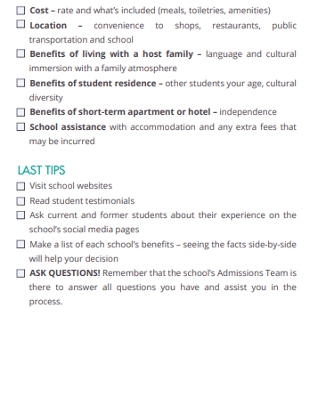 study in the usa checklist