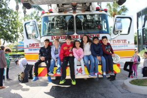 Kids enjoying some time with Davie Fire Rescue