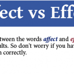 To understand when and how these two words, affect and effect, are used in a sentence, we should first know the meanings of these words, affect and effect. affect and effect - the difference in meanings are quite subtle.