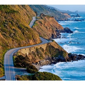 Pacific Coast Highway's twisty roads around Big Sur